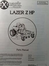Exmark Lazer Z Hp Zero Turn Comm Riding Lawn Mower Parts Manual 44 48 160000up