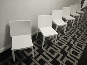 Mid century Capdell  Ultra Modern  REGATA White dinner Chair. MADE IN ITALY