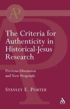 The Library of New Testament Studies: Criteria for Authenticity in...
