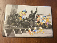 Vintage Walt Disney Mickey Mouse Magnet Donald Duck Goofy Minnie Train