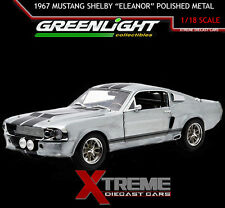 GREENLIGHT 12959 POLISHED METAL 1:18 1967 FORD MUSTANG ELEANOR GONE IN 60 SECOND