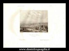 FRIBURGO FRIBOURG BATTAGLIA DEI TRE GIORNI 1644  MILITARIA STAMPA ORIGINALE 1842