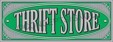 3'x8' THRIFT STORE BANNER Outdoor Sign LARGE Resale Shop Furniture Clothing Sale