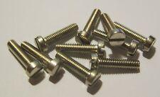 M4 x 16mm Slot Cheese Head Machine Screw - Silvered Brass (Qty 10)