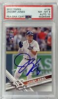 2017 Topps #139 Jacoby Jones PSA NM-MT 8 PSA/DNA Certification Auto 10 Tigers