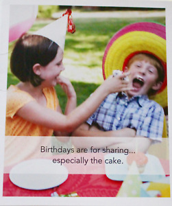 Birthdays are for sharing... especially cake greetings card & envelope, humour