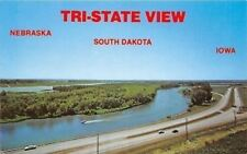 South Dakota Iowa Nebraska~Tri State View~War Eagles Grave~Interstate 29~1970s