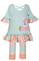 Bonnie Jean Girls Easter Holiday Spring Pageant Bunny Knit Outfit Set 2T 3T 4T