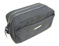 GIVENCHY PARFUMS MENS BLACK BEAUTY CASE / WASH / TOILETRY BAG FOR TRAVEL *NEW