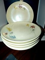 "Franciscan Autumn Leaves Salad Luncheon Plates 81/2"" Set of 3 Mid-Century Modern"