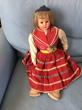Large VINTAGE DOLL 50 Cm Tall From MADEIRA