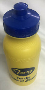 Franz For the Love of Bread Plastic yellow and blue water sports bottle