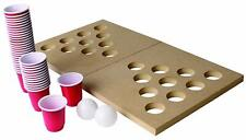 Mini Wooden Beer Pong Set Foldable Shot Pong Travel Board Party Drinking Game