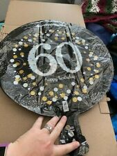 """60th Happy Birthday Party Supplies 60 yrs old Mylar 18"""" Balloon Sparkling New!!!"""