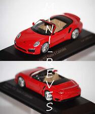 Minichamps Porsche 911 Turbo S Cabriolet 2013 rouge 1/43 410062230