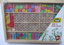 LENA Holzspielzeug @ Holzperlen ABC an der Schnur @ Spielend lernen Kreativität