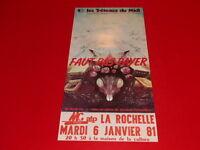 [Collection J. LE BOURHIS / AFFICHES] DARIO FO FAUT PAS PAYER!... LA ROCHELLE 81