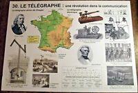 Objet Métier Affiche Scolaire Télégraphe Aérien Chappe Morse Bréguet Rossignol