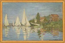 Regattas at Argenteuil Claude Monet Segelboote Frankreich Rennen Meer B A1 01241