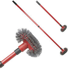 Telescopic Long Reach Extendable Arm Stiff Cobweb Cleaner Feather Grout Brush