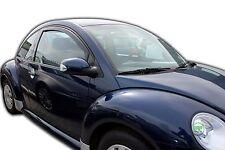 VW NEW BEETLE 3-DOOR 1998-2014 SET OF FRONT WIND DEFLECTORS  2pc HEKO TINTED