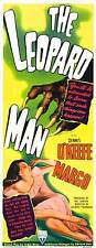 THE LEOPARD MAN Movie POSTER 14x36 Insert Dennis O'Keefe Margo Jean Brooks