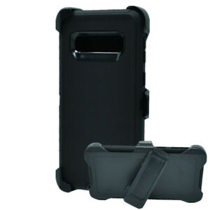 For Samsung Galaxy S10 Defender Rugged Case W/Belt Clip Fits OtterBox Black