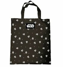 OFFICIAL STAR WARS STORM TROOPER MULTI HEADS TOTE BEACH SHOPPING BAG COTTON NEW