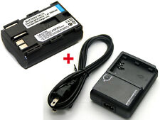 Battery + Charger For Canon Media Storage M30 M80 EOS 10D EOS 20D EOS 20Da