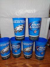 6 BUD LIGHT BUDWEISER - NFL Philadelphia Eagles - Reusable Plastic Cups - New