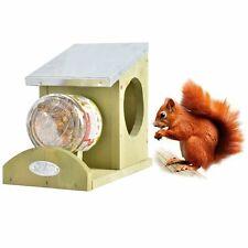 Esschert Design Eichhörnchen Futter Haus Station Holz Zink Erdnussbutter Glas ♥