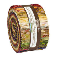 Kaufman Batik Fabric Strips Jelly Roll Rollup, INSPIRED BY NATURE, RU-893-40