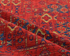 Ethnic fabric upholstery Kilim tapestry southwestern american textile red blue