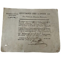 1700's Paper Document - Antique European Receipt Or Record - Manuscript Old