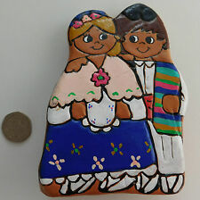 Young lovers Latin American pottery ornament Folk costume Wedding Engagement