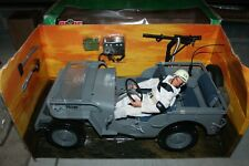 "GI JOE 1:6 JEEP SHORE PATROL VEHICLE WILLY'S WORLD WAR II FOR 12"" FIGURES NEW"