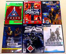 6 pc giochi collezione Delta Force era Metal Gear Solid 2 SAS Navy USK 18 Shooter