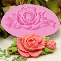 1pcs Flower Cake Mold Silicone Cookie Cupcake Chocolate Molds Rose Baking  Mold