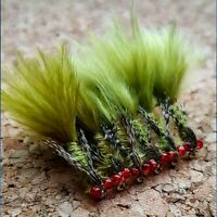 Red Eye Damsel Nymph Size 10 (Set of 3) Fly Fishing Flies