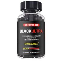 XR NUTRA INC BLACK ULTRA HYPER AGGRESSIVE FAT BURNER 100 COUNT FORMULA