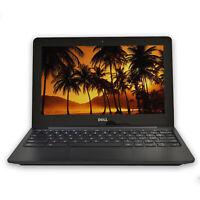 "Dell Chromebook 11.6"" Laptop Computer Intel Dual Core 2GB RAM 16GB SSD WiFi HDMI"