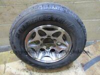 Shogun challenger sport 96-07 warrior alloy wheel 245 70 r16 spare