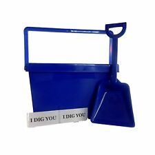 1 Blue Kid's Tote, Shovel, 2 I Dig You Stickers, Made USA Lead Free Food Safe