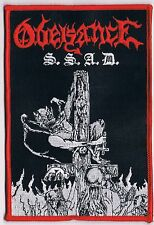 OBEISANCE embroidered patch satanik goat ritual cemetery urn blasphemy