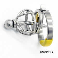 Stainless steel Male chastity device Shortest Cage Urethral Tube New A099