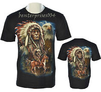 Mens Native Eagle American Indian Indians Tribes Tattoo T-Shirt