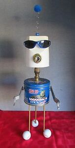 """""""MR. COOL""""~found object robot sculpture assemblage by: Y-NOT art & design"""