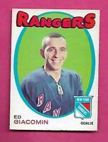 1971-72 OPC #  220 RANGERS EDDIE GIACOMIN EX-MT  CARD  (INV# C8339)