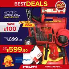 Hilti Te 17 Hammer Drill, Great Condition, Free Laser Meter, Extras, Quick Ship