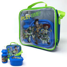 Toy Story 4 Childrens 3 Piece Thermal Lunch Bag Box and Drink Bottle School Set